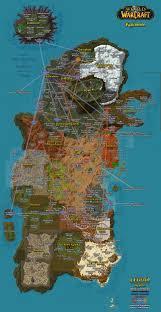 Flight Path Map Wow Flight Paths U2013 Eastern Kingdoms And Kalimdor Maps U2013 Conrad