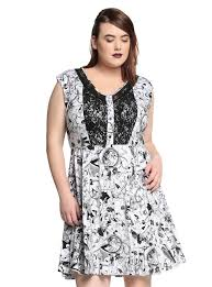the nightmare before black white characters lace dress