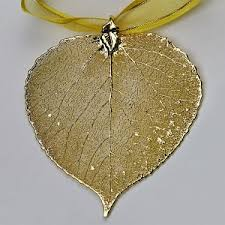 aspen leaf ornament 24k gold finish
