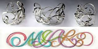 Monogram Bracelet Sterling Silver Custom Monogram Bracelets By Designet International