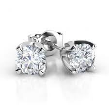 diamond stud earrings melbourne ella 40 diamond stud earrings white gold 4 claw total 0 40