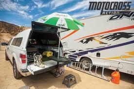 motocross bike trailer motocross action magazine mxa team tested ez hitch tailgate table