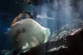 riviera maya photography cenote and beach trash the dress reyna