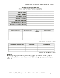 Field Inspection Report Template by Inspection Report Sle Format Editable Fillable Printable