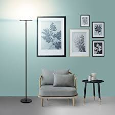 brightech sky led torchiere floor lamp energy saving dimmable