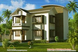 duplex villa elevation 1661 sq ft kerala home design and