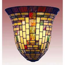 Stained Glass Wall Sconce Stained Glass Wall Sconce For Inspire Earthgrow Pertaining To