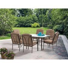 6 Seat Patio Dining Set - mainstays brookwood landing 7 piece patio dining set brown box 1