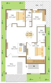 sq yds36x40 ft south house 2bhk floor plan for more facing plot