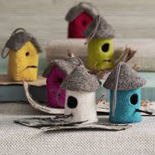 felt bird house ornament from elizabeth s embellishments