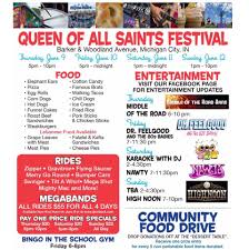 queen of all saints parish festival michigan city