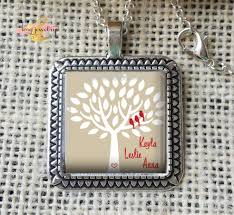 Mothers Necklaces With Children S Names Mother U0027s Necklace Family Tree With Birds Necklace Children U0027s