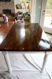 best finish for kitchen table top how to stain a table top to look rustic coma frique studio