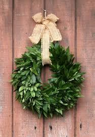 fresh wreaths fresh bay leaf wreaths with jute bow mcfadden farm