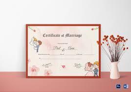 wedding certificate template 22 free psd ai vector pdf