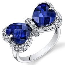 heart sapphire rings images Blue sapphire diamond ring 14k white gold heart r61620 peora jpg