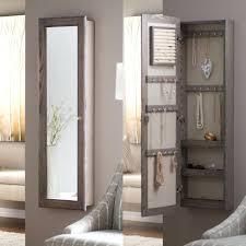 Mirror Armoire Wardrobe Bedroom Armoire Wardrobe Closet Wall Mounted Locking Mirrored