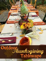 outdoor thanksgiving tablescape in the works