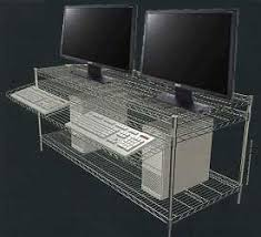 Wire Computer Desk Wire Shelving Computer Workstations