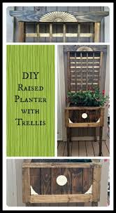 diy raised planter with trellis hometalk