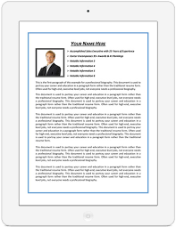 Resume Bio Examples by Examples