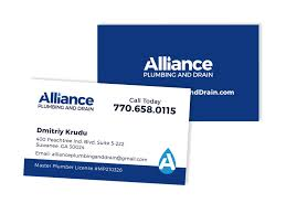 ind alliance alliance plumbing and drain business card atlanta web print