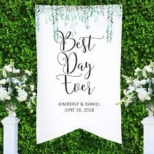 wedding backdrop green personalized wedding backdrop leaves z create design