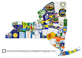 Map Of New York State Counties by New York State Counties Flag Map Vexillology