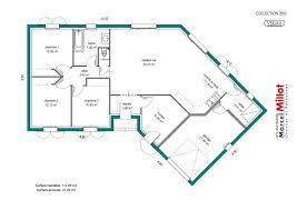 plan de maison en v plain pied 4 chambres plan maison plein pied 120m2 cuisine moderne en bois 10 plan