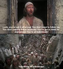 monty python u0027s life of brian 1979 yes we u0027re all individuals