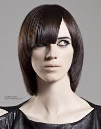 beveled bob haircut pictures long back angled bob with a fringe and beveled edge