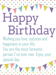 to the most fantastic person happy birthday wishes card