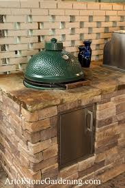 Big Green Egg Table Cover Ideas For Building An Outdoor Kitchen Art Of Stone Gardening