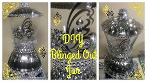 diy blinged out mirror jar dollar tree craft requested