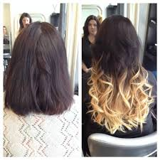ombre hair extensions before and after 18 inch fusion ombre hair extensions yelp
