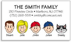 personalized contact cards moving business cards