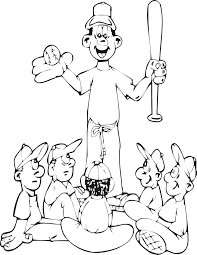 baseball team coloring pages coloring