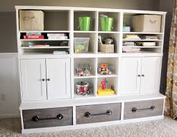 ana white triple cubby storage base inspired by pottery barn