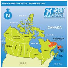 world map oceans seas bays lakes location deer lake airport