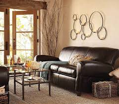 Leather Sofa In Living Room by Living Room Brown Leather Sofa Cushions Wood Coffee Table Grey