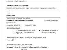 business resume templates free free resume