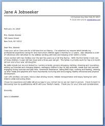 Sample Resume For Nanny Job by Cover Letter Cover Letter Nanny Cover Letter For Nanny Work Cover
