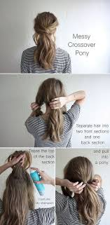 layer hair with ponytail at crown 17 hair tutorials you can totally diy messy low ponytails