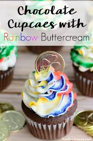 Frosting Recipe For Decorating Cupcakes Easy Chocolate Cupcakes Recipe Rainbow Buttercream Frosting