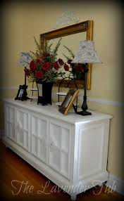 Homemade Stereo Cabinet The Lavender Tub Old Stereo Console To Dining Sideboard