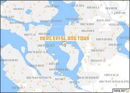 mercer map mercer island town united states usa map nona