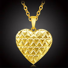 s day locket s day gifts gold color heart locket necklace women