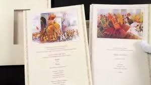 Sikh Wedding Invitations 3057 Cream Color Sikh Cards Punjabi Wedding Invitations Video