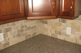 Brown Subway Travertine Backsplash Brown Cabinet by Kitchen Backsplash Ideas With Maple Cabinets Quartz