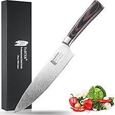 restaurant kitchen knives amazon com tartek japanese chef knife hc stainless steel best